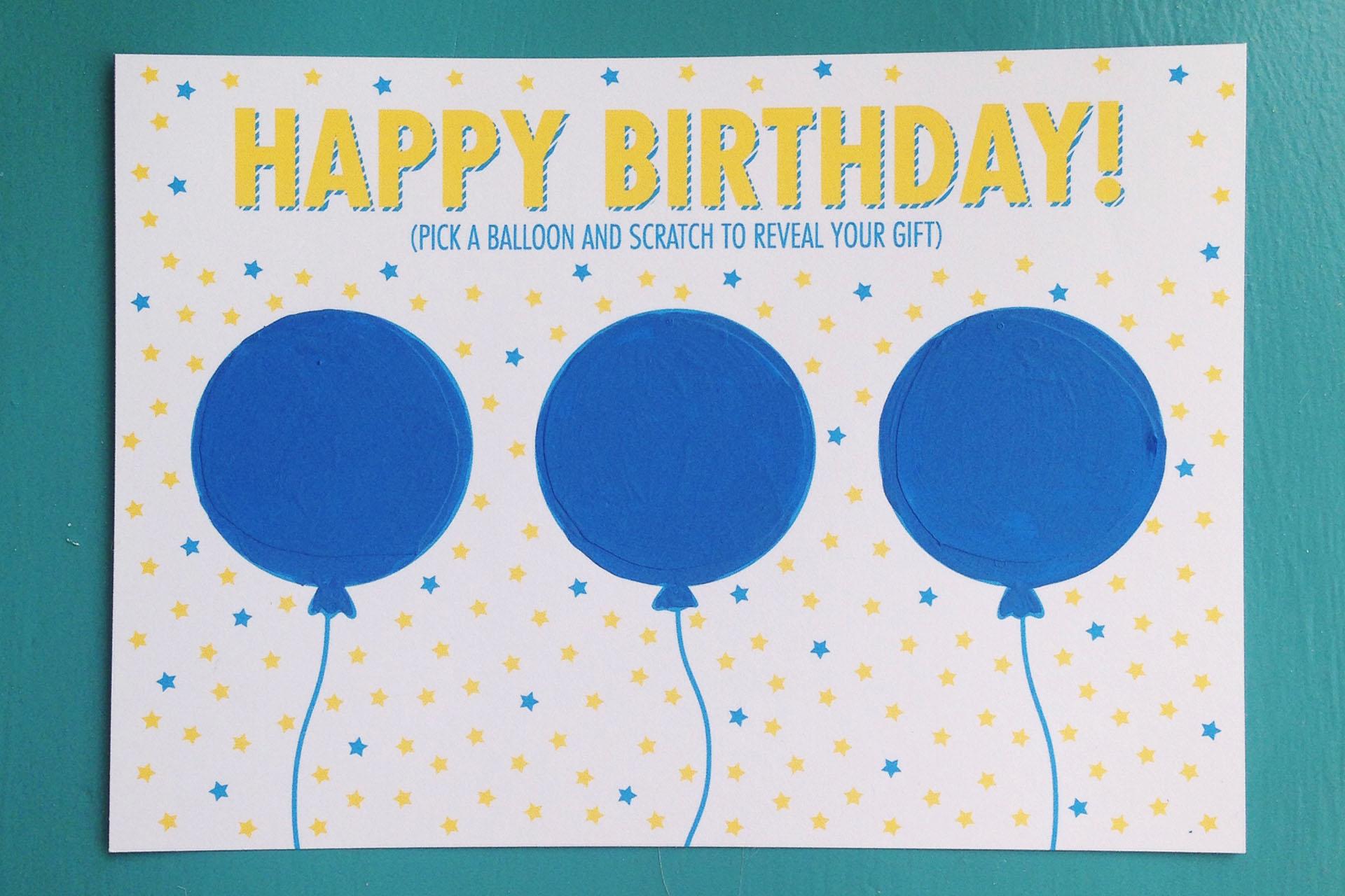 diy birthday scratch off card  free printable